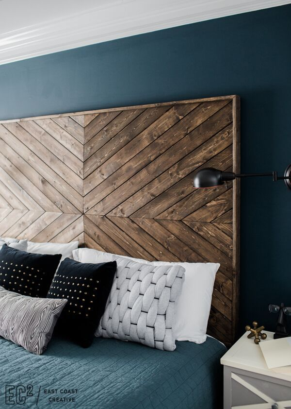 Compact DIY Headboard EastCoastCreative diy wood headboard ideas