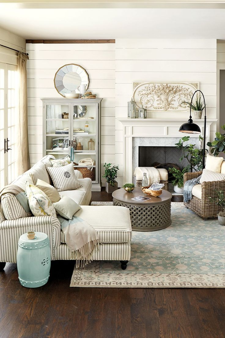 Compact Elegant French Country Living Room. I love the plaque above the mantle! I french country living room ideas
