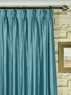 Compact Extra Wide Swan Gray and Blue Solid Double Pinch Pleat Curtains 100 extra wide pinch pleat drapes