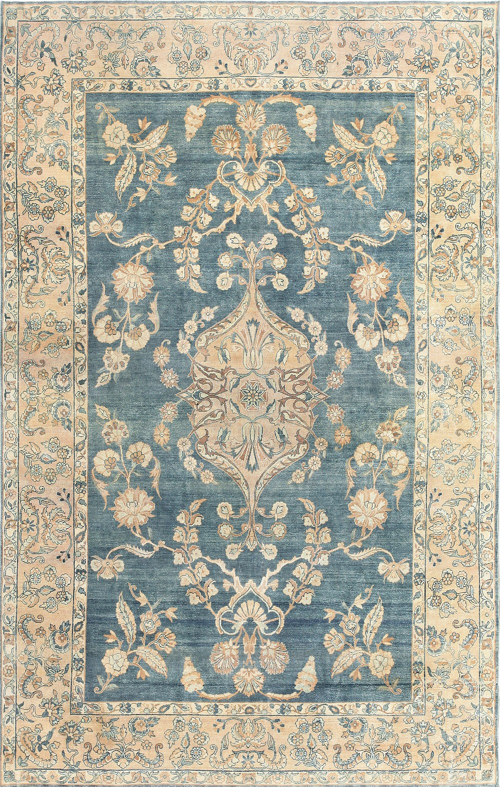 Compact Image of: Blue Persian Rug Ideas blue persian rug