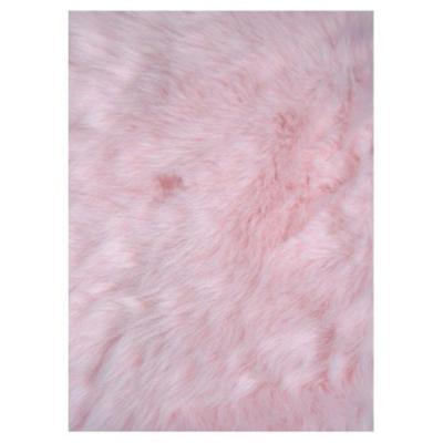 Compact LA Rug Flokati Light Pink 3 ft. 3 in. x 4 ft. 10 light pink rug