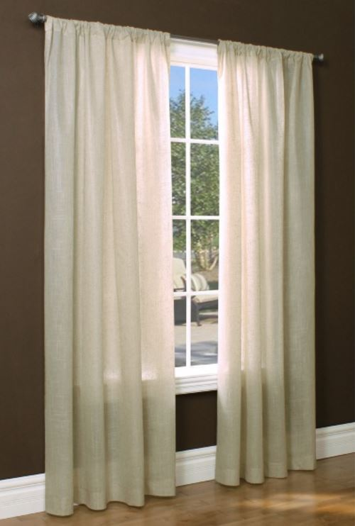 Compact Lined Grommet Top Insulated Semi-sheer: Rhapsody European style Crushed  Voile 48 semi sheer curtains