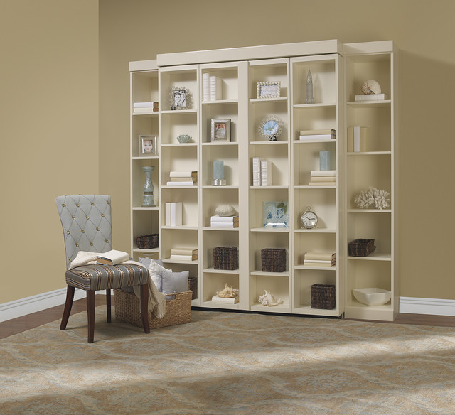 Compact Madison Bifold Bookcase Bed contemporary-living-room bookcase wall bed