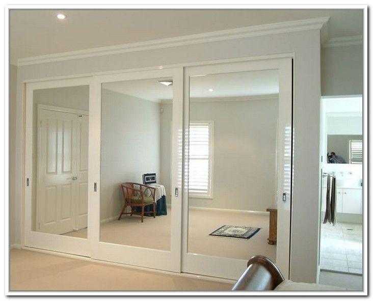 Compact mirrored closet doors sliding photo - 3 replacement mirror wardrobe doors
