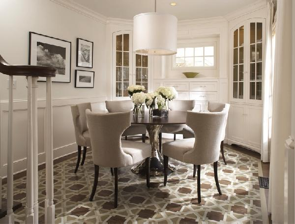 Compact ... Table Chrome Leg Inspirations Round Contemporary Dining Room ... contemporary round dining room sets