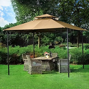 Contemporary 10u0027 x 10u0027 Grove Patio Canopy Gazebo patio canopy gazebo