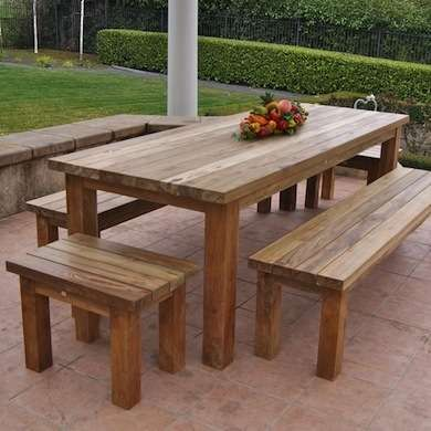 Contemporary 12 Ways to Wake Up Your Tired Outdoor Furniture wooden outdoor table