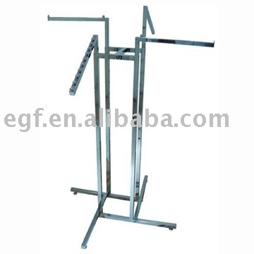 Contemporary 4 Way Clothes Rack / Metal Clothes Stand / Adjustable Garment Rack - metal wardrobe rack