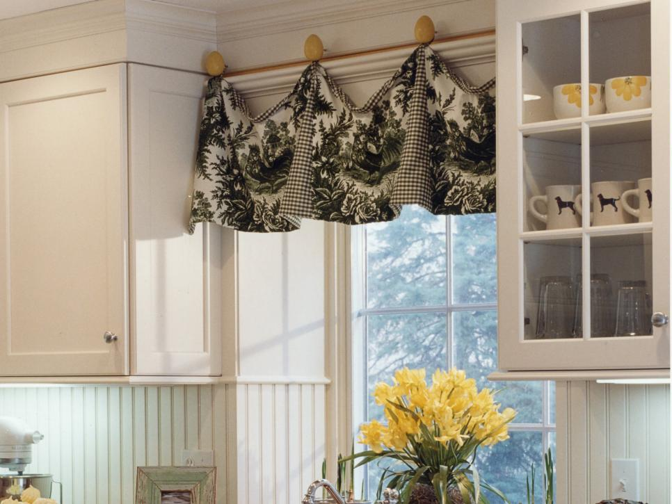 Contemporary Adding Color and Pattern With Window Valances window valance ideas
