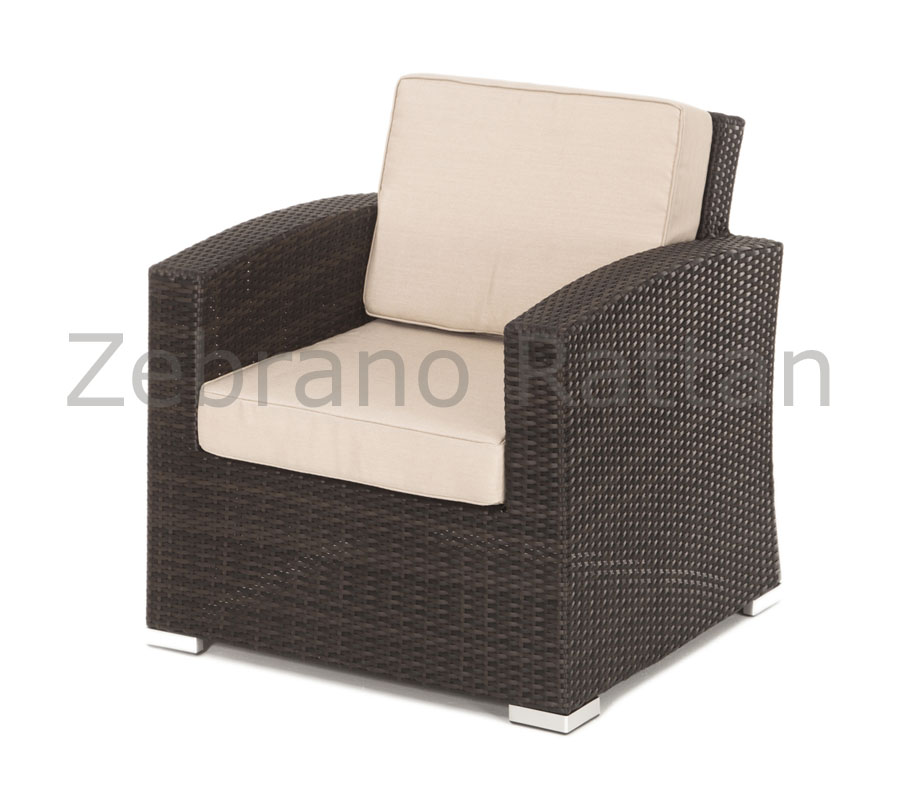 Contemporary Algarve Rattan Garden Chair rattan garden furniture cushions