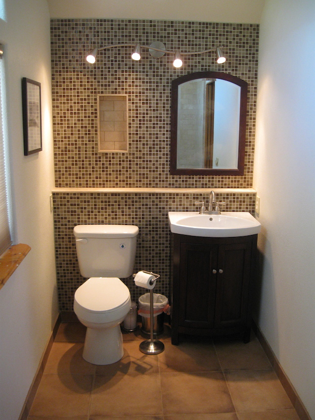 Contemporary Bathroom Accent Wall small bathroom paint colors