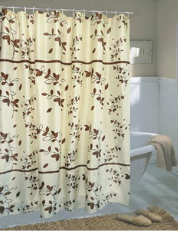 Contemporary Bring the beauty of the leaves to your shower with this beautiful unique fabric shower curtains