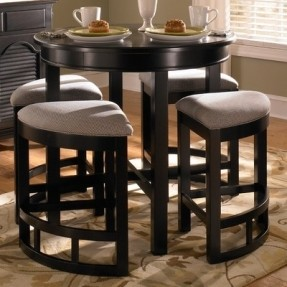 Contemporary Broyhill Mirren Pointe Round 5 Piece Counter Pub Table Set round pub table sets