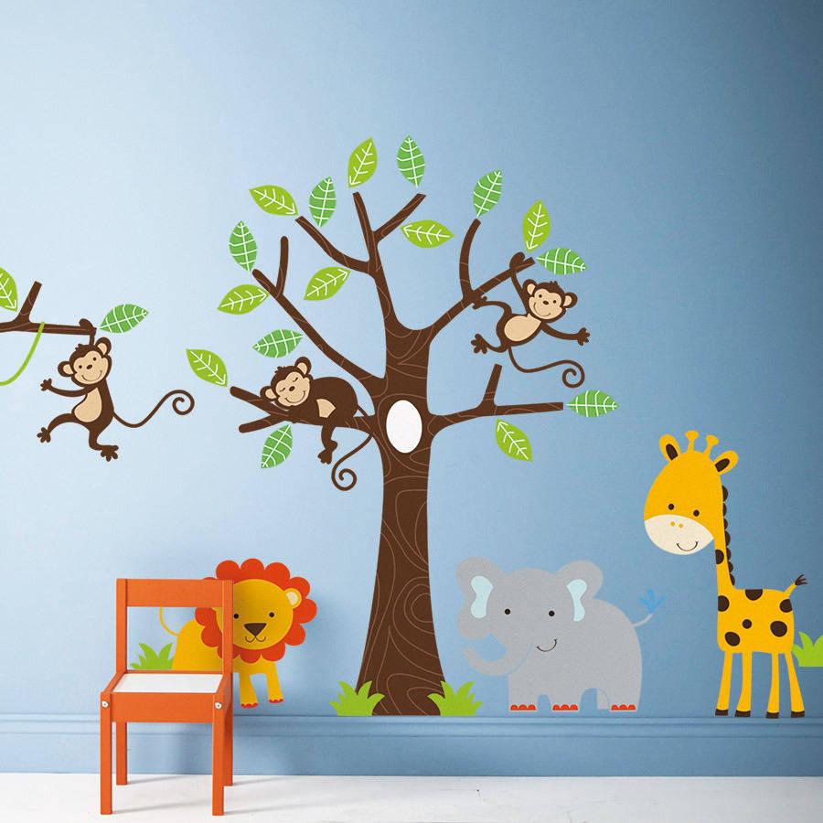 Contemporary Childrenu0027s Jungle Wall Stickers jungle wall stickers