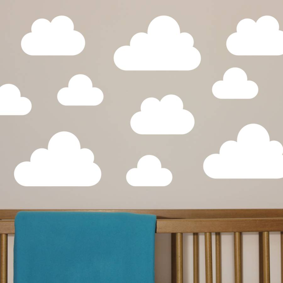 Contemporary cloud wall stickers by little chip | notonthehighstreet.com cloud wall stickers