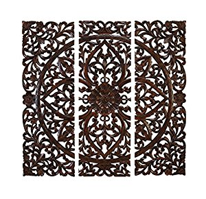 Contemporary Elegant Wood Carved Decorative Wall Art Plaque wood carved wall art