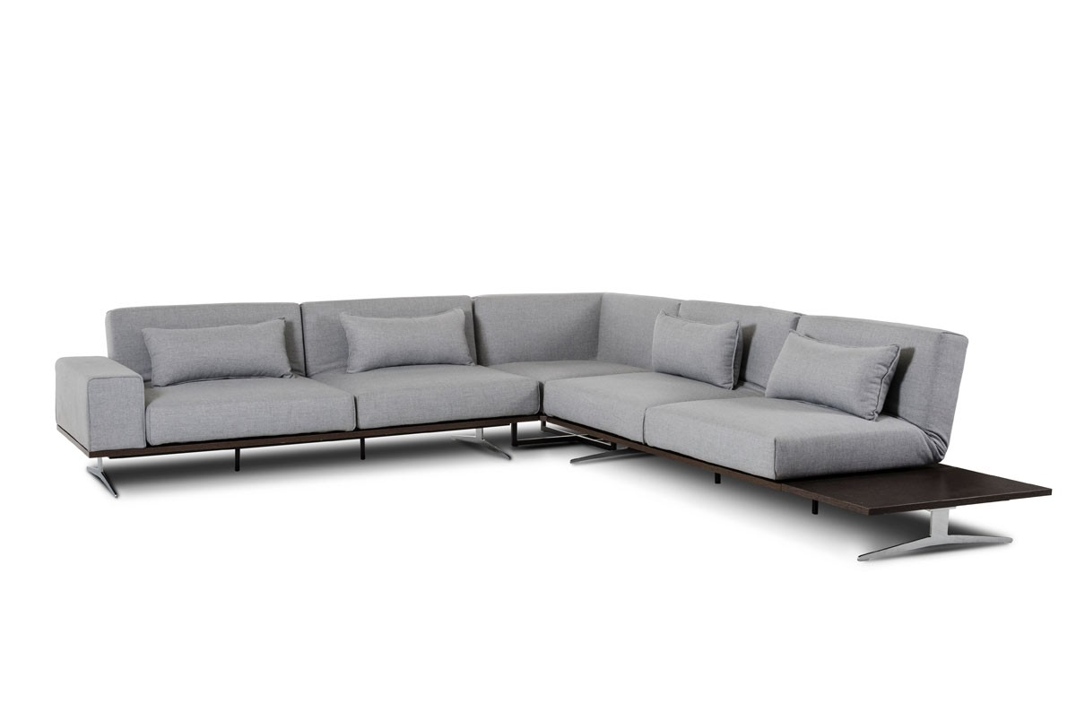 Contemporary Florence Modern Fabric Sectional Sofa modern fabric sectional sofa