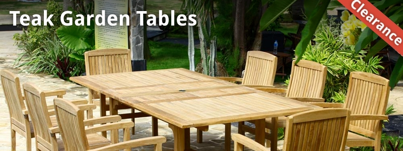 Contemporary Garden Furniture Clearance offer ex-display, end of season and stock  clearance quality teak garden furniture