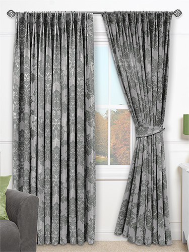 Contemporary Glamis Silver Grey Curtains from Curtains 2go silver grey curtains