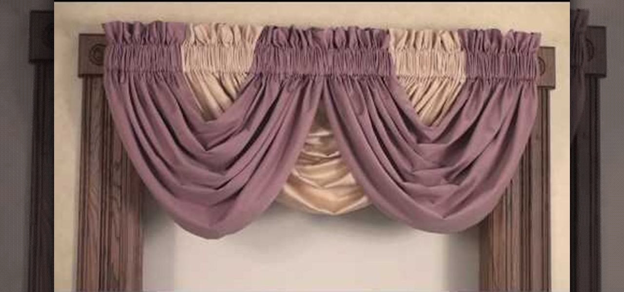 Contemporary How to Create a beautiful window treatment by styling a draping waterfall waterfall valance window treatments