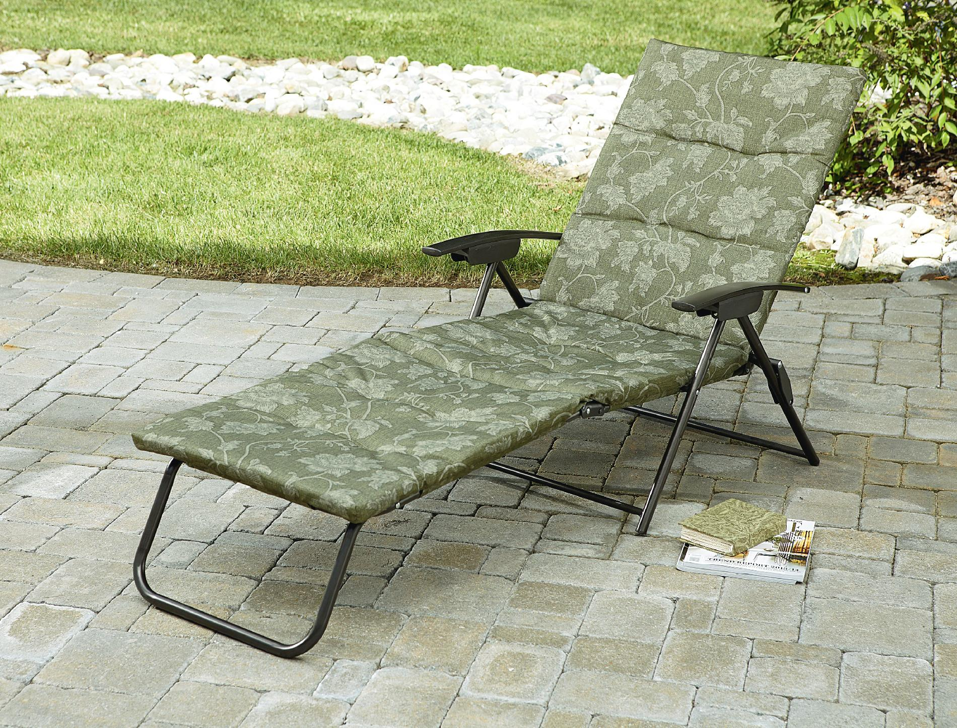 Contemporary Jaclyn Smith Cora Padded Folding Chaise folding patio lounge chairs