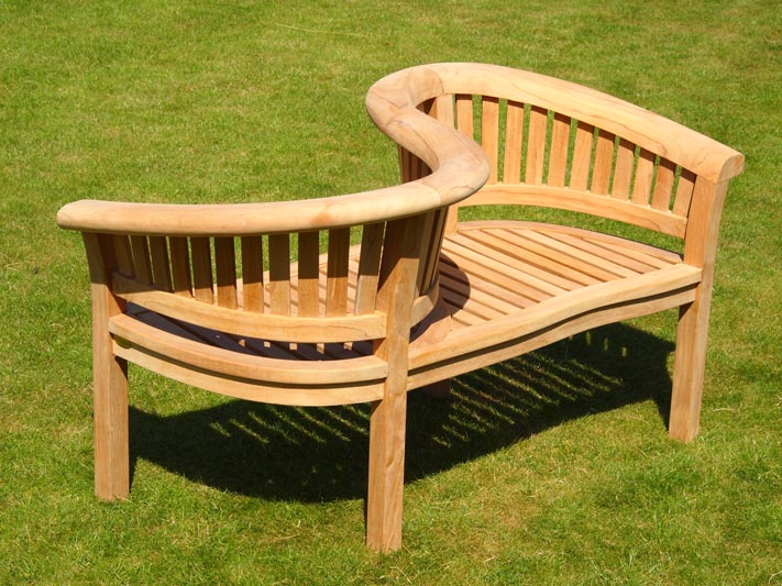 Contemporary Java Love Seat garden love seat