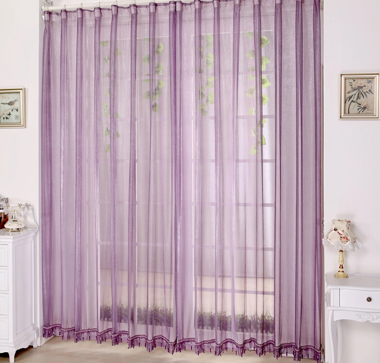 Contemporary ... Lilac Bedroom or Balcony Cheap Sheer Curtains ... lilac sheer curtains