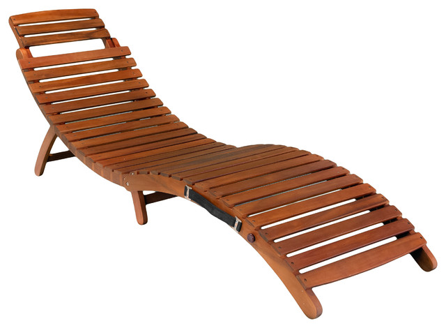 Contemporary Lisbon Folding Chaise Lounge Chair contemporary-outdoor-folding-chairs wood chaise lounge outdoor