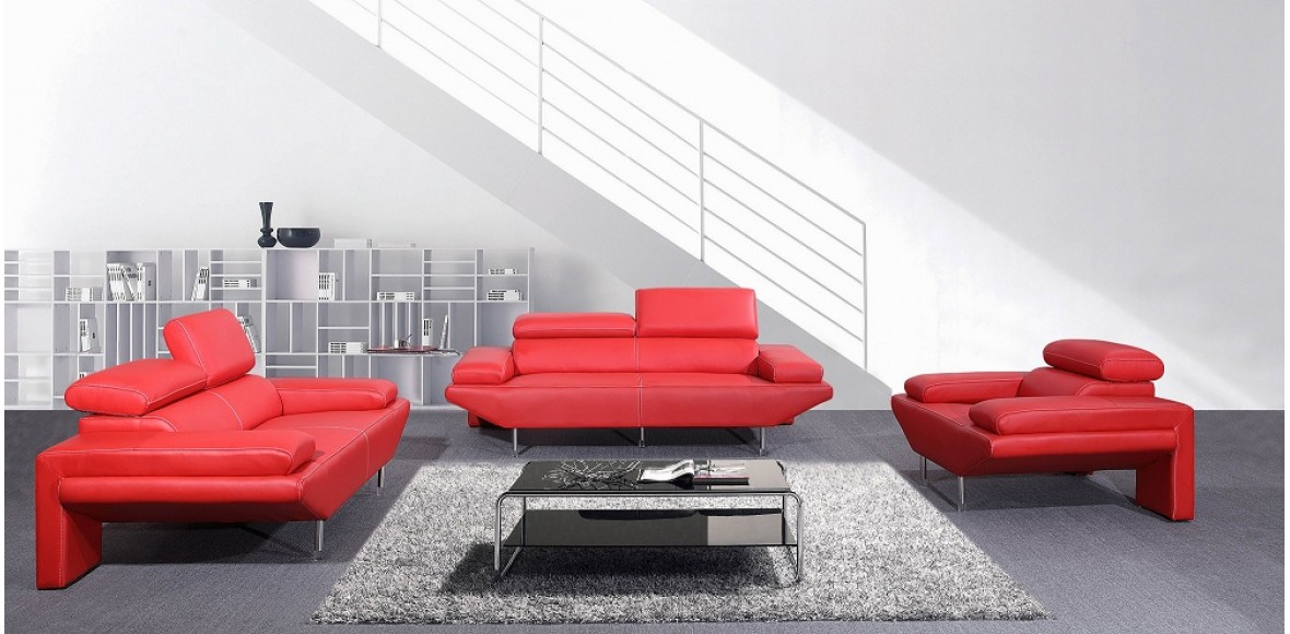 Contemporary Mavria - Modern Italian Leather Sofa Set italian leather sofas contemporary