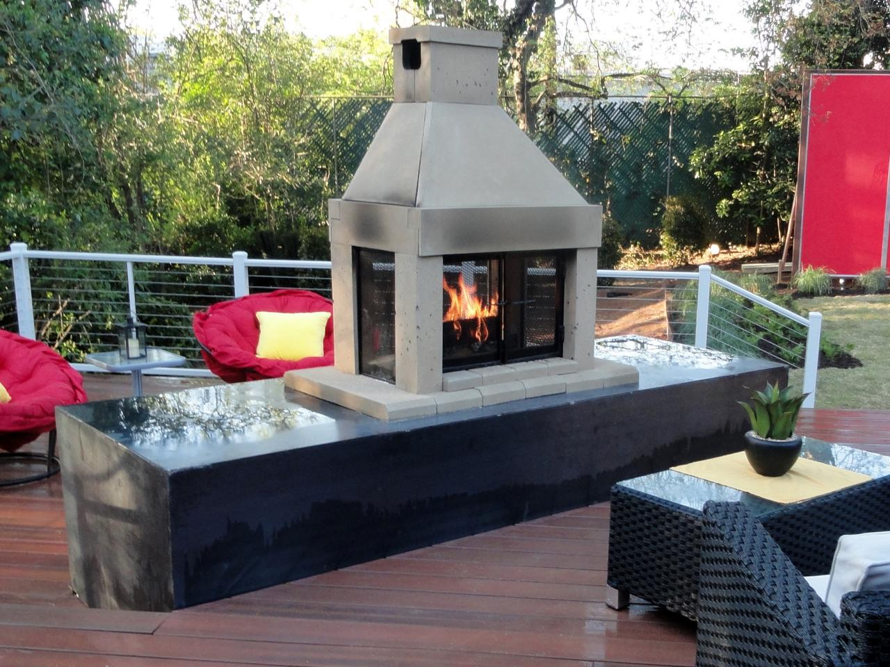 Contemporary Natural Gas for an Outdoor Fireplace gas outdoor fireplace