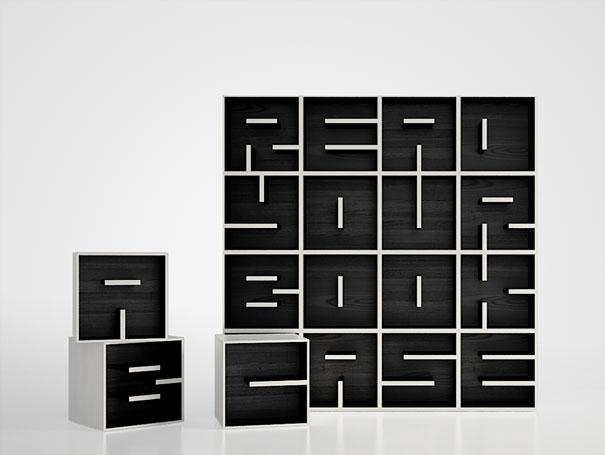 Contemporary Read Your Bookcase modern bookshelf design