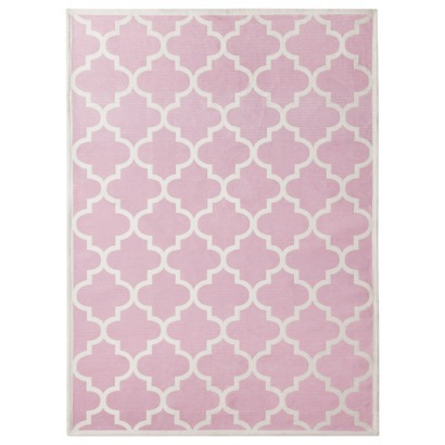 Contemporary Room 365™ Pink Peony Rug, Iu0027d like a lime green rug to pink and green rugs for girls room