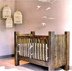 Contemporary Rustic homemade wooden baby crib plans blueprints rustic baby cribs