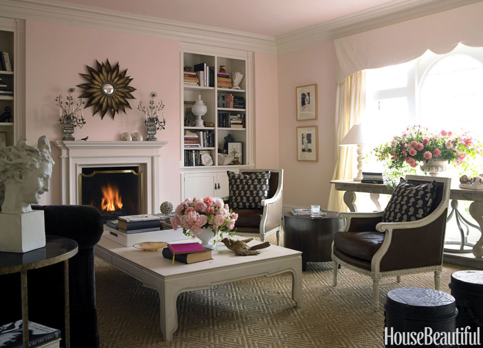 Contemporary Soft Pink best living room paint colors