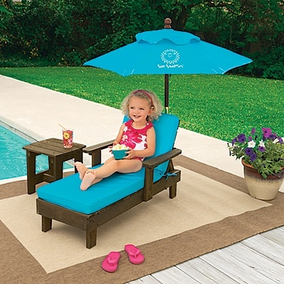Contemporary Sun Smarties Kids Chaise Outdoor Furniture Set | OneStepAhead.com garden furniture for kids