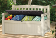 Contemporary Suncast Deck Box With Lid. Of the three outdoor storage ... outdoor storage box waterproof
