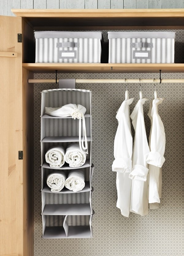 Contemporary tidy solutions hanging organizers wardrobe hanging storage solutions