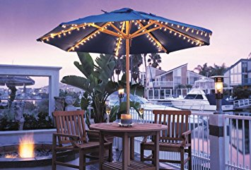 Contemporary Umbrella Light Set for Most Standard Patio Umbrellas patio umbrella lights