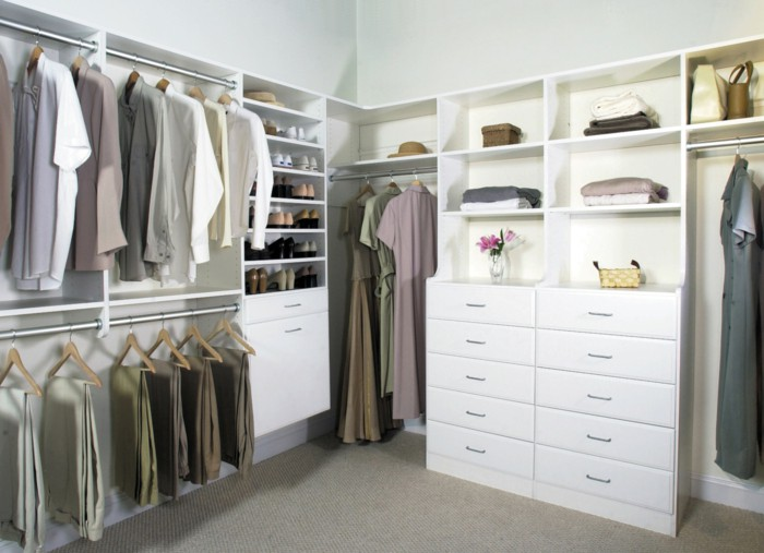 Contemporary wardrobe design open clothes rails Dresser storage space dressing room open wardrobe storage