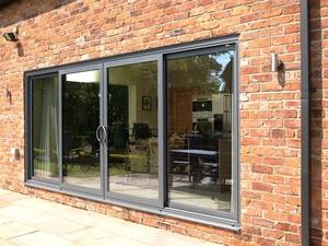 Cool 4 panel patio doors, Visoglide dual track patio aluminium patio doors