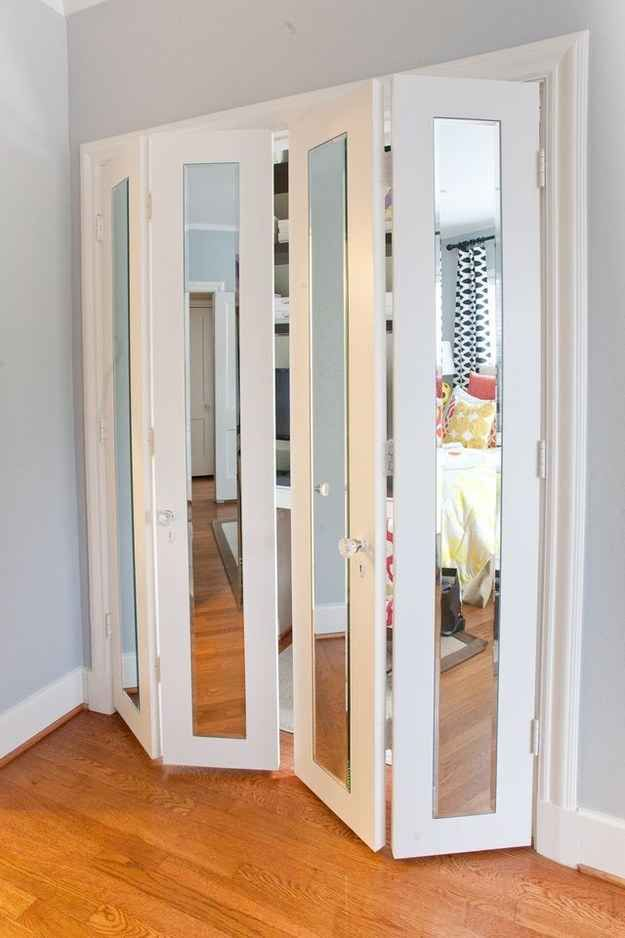 Cool 40 Easy DIYs That Will Instantly Upgrade Your Home. Mirror Closet covering mirrored closet doors
