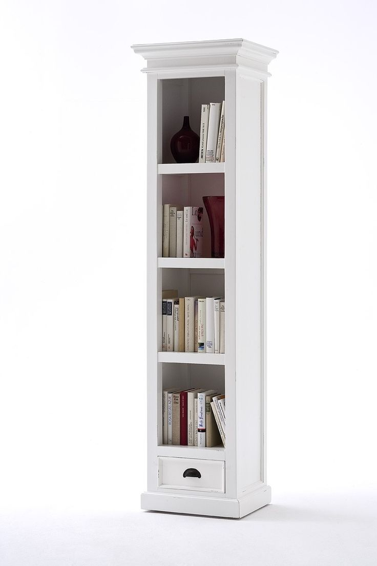 Cool Belgravia Painted Tall Narrow Bookcase with Drawer tall bookcase with drawers