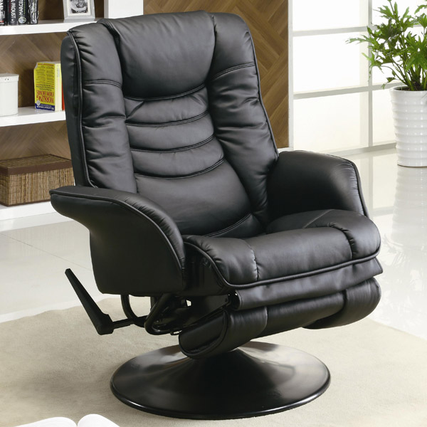 Cool Black Leather Swivel Reclining Chair - Santa Clara Furniture Store, San swivel recliner armchair