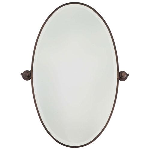 Cool Dark Brushed Bronze Oval Mirror Mirrors Bathroom