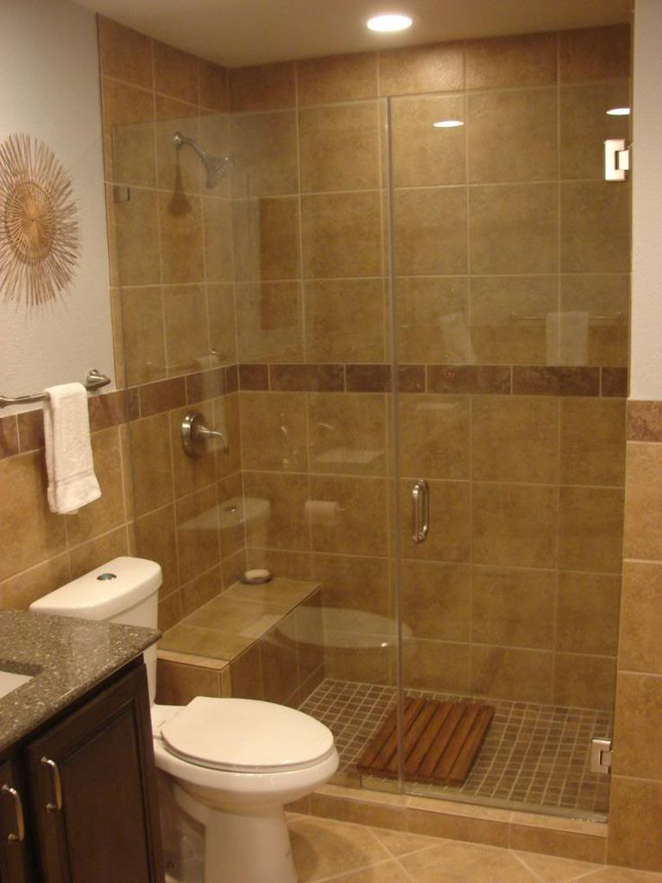 Cool Decoration Wonderful Bathroom With Design Frameless Glass And Be Equipped  Brown Wall small bathroom remodel ideas