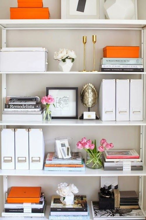 Cool Designers We Love: Kapito Muller Interiors. Office BookshelvesBookshelf  OrganizationWhite ... white office bookshelves