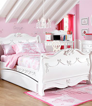 Cool Disney Princess 992 White Sleigh Bed Full ... disney princess bedroom set