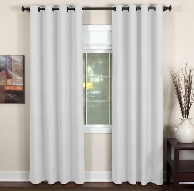 Cool Elrene Window Treatments Essex Grommet White Window Panel 50 grommet window panels