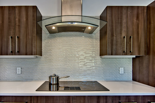 Cool Glass tile kitchen backsplash midcentury-kitchen glass tile kitchen backsplash