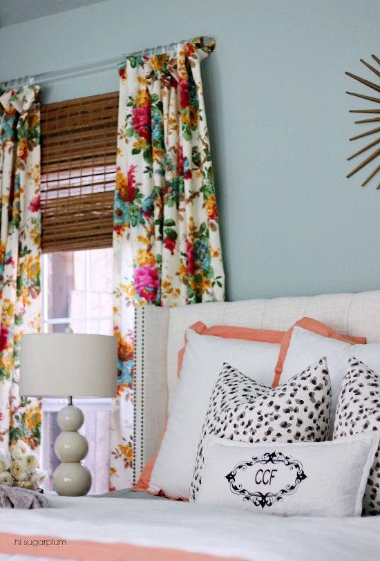 Cool Hi Sugarplum | Master Bedroom Reveal. Curtain Rod HeadboardBedroom  CurtainsFloral ... floral bedroom curtains